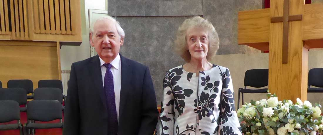 Dr Hamilton and Shirley Moore
